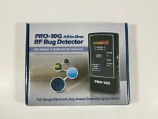 Pro-10G RF Bug Detector, GPS finder & GSM/3G/4G Detector, New Open Box