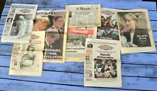 Lot de 8 journaux Mort de Lady Di, Princesse Diana, septembre 1995,