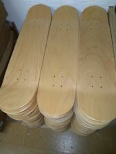 "10 x BLANK NATURAL Skateboard Deck 7,75"" - SKATE DECK/TABLA -TATTOO-CUSTOMIZABLE"