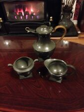 Vintage Don Pewter Coffee Pot, Milk And Sugar