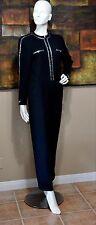 St John COLLECTION Santana Knit Crystal Embellished Jumpsuit- Size 6