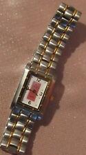Bonito reloj de mujer de Cuarzo fantasía acero y de oro Tentation