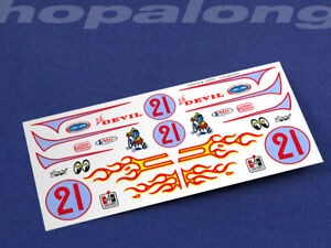 Scalextric/Slot Car 1/32 Scale Waterslide Decals. ns029w
