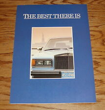 Original 1984 Rolls Royce Best There Is Foldout Sales Brochure 84