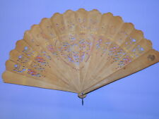 Victorian Wood Painted Fan  TO MY WIFE with Heart