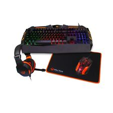 MeeTion Rainbow Gaming Keyboard, Mouse, Mouse Pad, and Headset Combo 4 in 1 Set