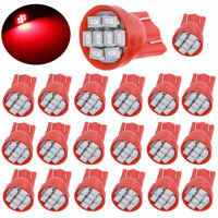 20X T10 158 2825 168 194 Red 8SMD LED Interior Instrument Panel Dash Light bulbs