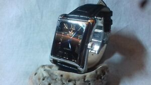 automatic mens watch mint condition clasp leather strap
