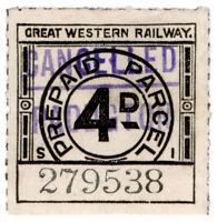 (I.B) Great Western Railway : Prepaid Parcel 4d (Paddington)