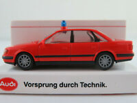 "Rietze/Audi Audi 100 quattro 2.8 E Limousine (1990) ""FEUERWEHR"" 1:87/H0 NEU/OVP"