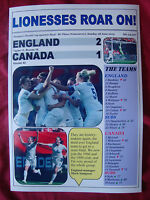 England 2 Canada 1 - 2015 Women's World Cup quarter-final - souvenir print