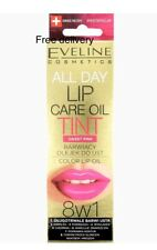 Eveline All Day Lip Care Oil Tint Sweet Pink Color Lip Oil 8in1 7ml