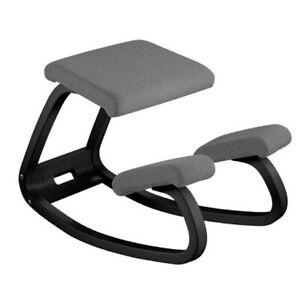 Varier Variable Balans Kneeling Chair in Black / Grey