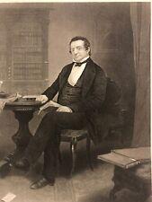 Original Stahlstich Amerika Chappel 1861 Washington Irving Schriftsteller Porträ