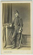 CDV militaire circa 1865. Hériot, 2e Chasseurs à cheval, Le Roch, Saumur.