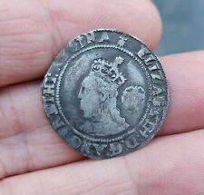 More details for elizabeth i 1572 hammered silver sixpence - mm ermine - spink 2562