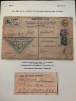 1941 Polish Army Undercover Address England Censored Cover To France Postage Due