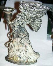 christmas Candle hold 00006000 er silverplate candlestick Angel holds offering censer