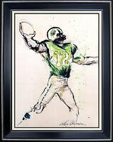 LEROY NEIMAN Original PAINTING Gouache Signed JOE NAMATH Super Bowl Sports oil