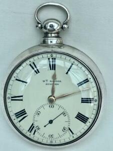 Fine English Silver Pair Cased Fusee Pocket Watch Birmingham1828.