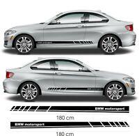 BMW Stickers bas de caisse Motorsport- Autocollant pour BMW série 1 3 5 7
