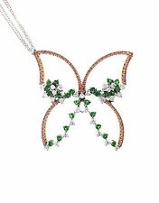 PIERO MILANO Pink Sapphire and Diamond Butterfly Necklace 18k Gold- HM1824SR
