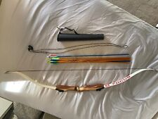 """64"""" Fuse Focus Recurve Bow 20 lbs, Quiver, Stringer and 9 Easton Arrows Included"""