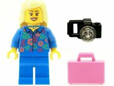 LEGO Ragazza Spiaggia Vacanza Donna con Custodia Rosa & Fotocamera NUOVO