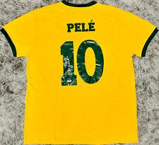 """Pele Signed Brazil Soccer Jersey Inscribed """"1281 Goals"""" Autographed PSA/DNA COA"""