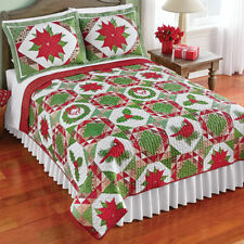 Festive Country Christmas Theme Reversible KIng Size Quilt