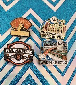 SF Giants Vintage Lapel Pin Lot Of 4 Chevron