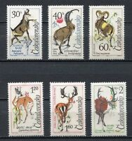 37118) Czechoslovakia 1963 MNH Wild Alpine Animals 6v