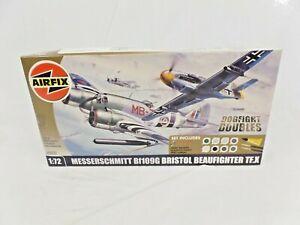Hornby Airfix Messerschmitt Bf109G Bristol Beaufighter TF.X Dogfight Doubles Set
