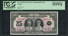 """Canada Bc-12 $25 1935F """"French"""" Comm Note Pcgs 55 Ppq Choice About New Wlm4410"""
