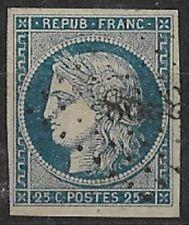 FRANCE - CERES N° 4 OBLITERE PETIT CHIFFRE