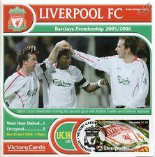 Liverpool 2005-06 West Ham (Djibril Cisse) Football Stamp Victory Card #538