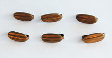 VINTAGE AGED BRASS JEWELRY CLASP 6 CLASPS OVAL RIDGED • 14mm