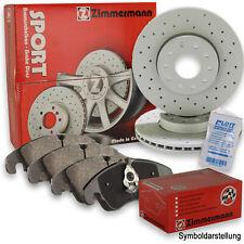 ZIMMERMANN Sport 256mm Bremsscheiben + Beläge vorne für VW Golf 2 3 Vento Passat