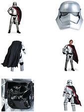 Costume bambini Captain Phasma Star Wars  vestito, maschera, cintura e mantello