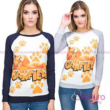 Women Fancy Cat Garfield Crew Neck Long Sleeve Hoodie,Sweatshirt FZ109