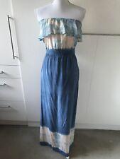 Gypsy05 Maxi Silk Dress Blue Size S