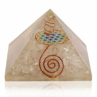 Extra Large 70-75MM Clear Quartz Stone Orgorne Natural Gemstone Pyramid Organit