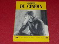 [REVUE LES CAHIERS DU CINEMA] N°137 # NOV 1962 LEENHARDT GODARD EO 1rst Printing