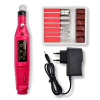1 Set Nail Power Drill Electric Manicure Machine Kit Tools Gel Polish Remover ZE