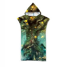 Novelty Gift Fairy Magic Tree Forest Large Poncho Hooded Swim Bath Beach Towel