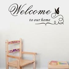 Welcome to our home Art Wall Sticker Quote Words Decal PVC DIY Mural Decor FI