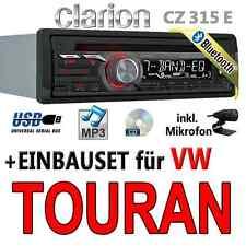 VW Touran - Clarion BLUETOOTH | USB | CD | MP3 | AUX-IN |  Autoradio Einbauset