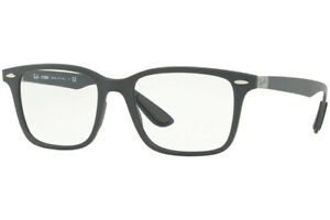 New Authentic Ray Ban RX7144 5521 Liteforce Sand Grey Eyeglasses 53-18-150 Italy