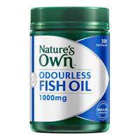 NATURE'S OWN ODOURLESS FISH OIL 1000MG 200 CAPSULES REGULAR STRENGTH OMEGA-3