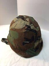 USMC US Marine Corps US Army M1 Steel Helmet w woodland BDU camo cover